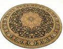 Black- Ivory Udai Exports Round Oriental Carpet