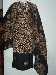 Black Multi Gold Cotton Batik Suits