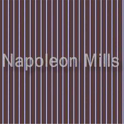 Brown Stripes Polyester Cotton Fabric