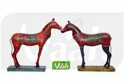 Vaah Iron Horses with Meenakari