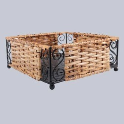 Square Handicraft Wicker Basket