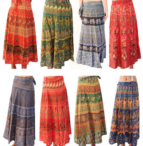 4fef6a67ae6 Women s Skirts - Indian Traditional Women Printed Skirt Exporter ...