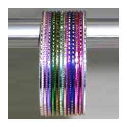 Green Daily Wear Aluminum Bangles, 12