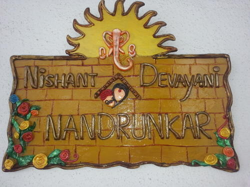 Decorative Name Plates For Home: Handicraft Decorative Product And Handicrafts Diwali Items