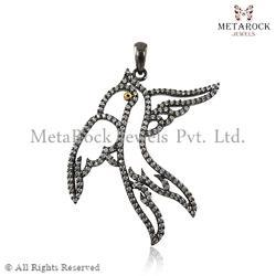 Pave Diamond Designer Charm Pendant