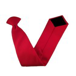 Red Matt Clip On Tie