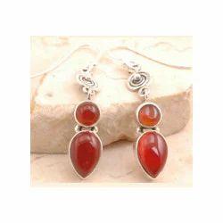 Red Onyx Garnet Earrings