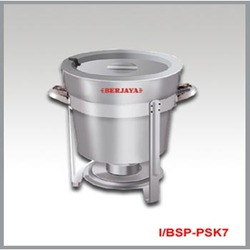 Grey Stainless Steel Soup Kettle