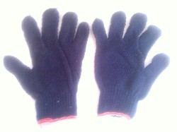 Blue Colour Knitted Hand Gloves