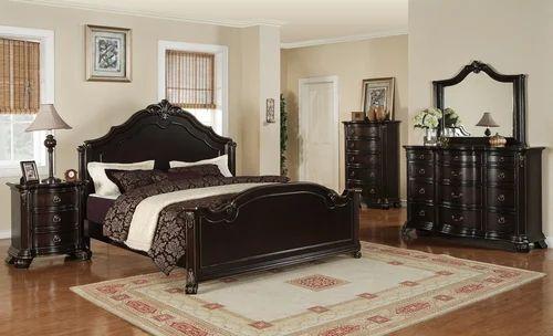 Black Elegant Bedroom Furniture Set