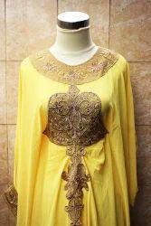 Yellow Moroccan Jalabiya