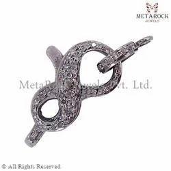 Designer Diamond Clasp Silver Finding