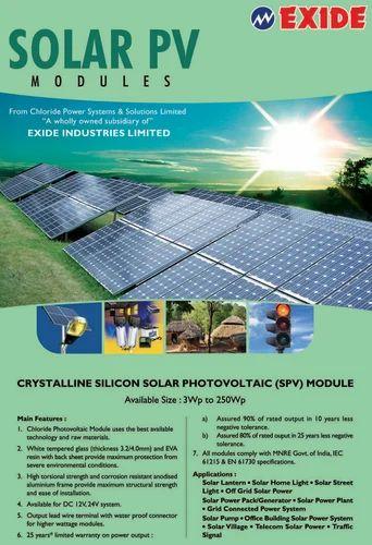 Solar Power System Exide Solar Power System Wholesaler