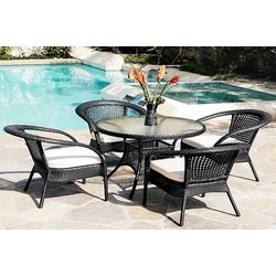all weather outdoor furniture pe rattan chair and table manufacturer from delhi