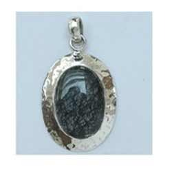 Black Rutail Pendant