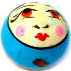 Wooden Face Beads
