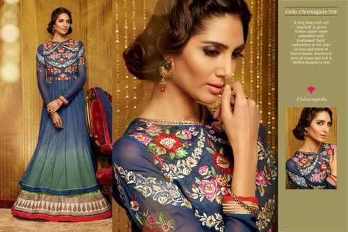 Georgette and Chiffon Ladies Designer Suits