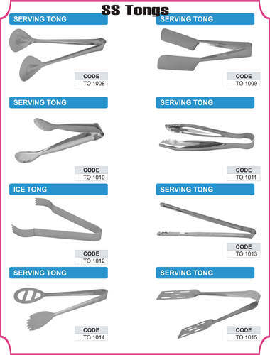 Stainless Steel Tongs | Tohana Overseas | Manufacturer in
