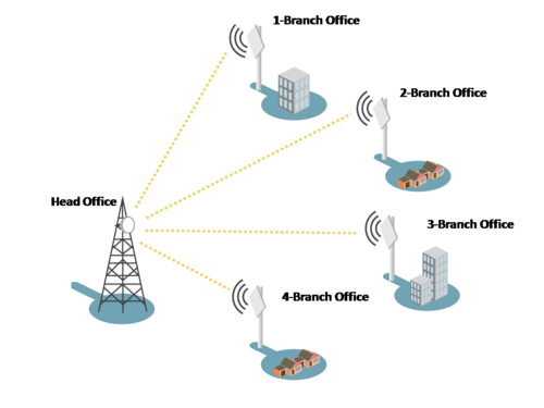 Point To Multipoint Wireless Networking Solution In