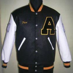 Black White Letterman Jacket - Plain