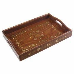 Polished Rectangular Decorative Tray, Size: 31 Cm