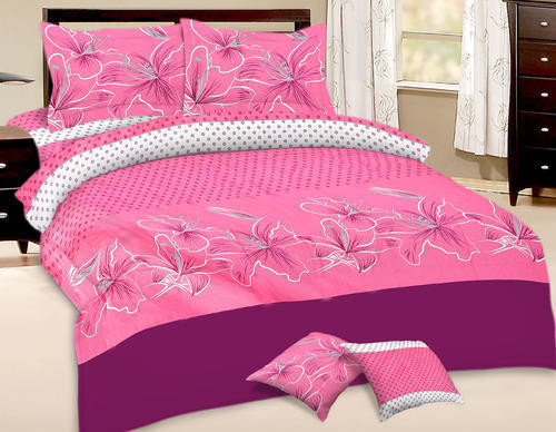 Exclusive Pink Color Designer Bed Sheet Set