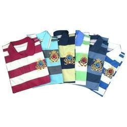 Men Cotton Collar Neck Printed T-Shirt