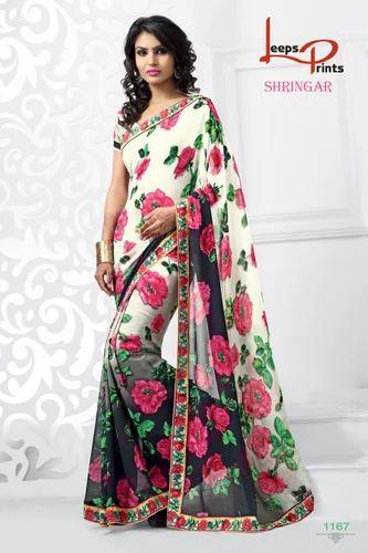 9b066491b6 Fancy Printed Sarees - Printed Sarees Manufacturer from Surat
