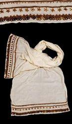 天然绣花边框刺绣围巾