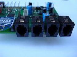 Plastic Black RJ-11 Socket for PCB