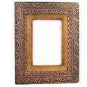 Brass and Wood Photo Picture Frame