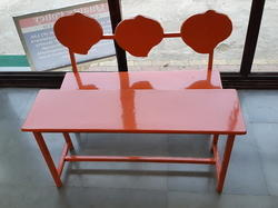 FRP Red Kids Bench