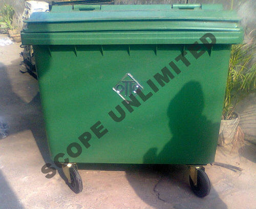 Four Wheeled Dustbin Manufacturer In Delhi 660ltrs Four