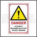 140029 Automatic Machinery Sign Name Plate