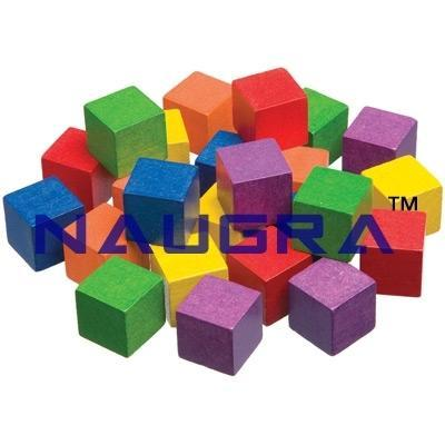 1 Inch Wooden Color Cubes Set Of 102 For Maths Lab Naugra Export