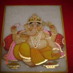 Marble Ganesha Picture Handicraft