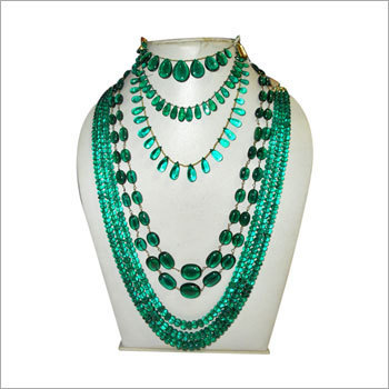emerald beads necklaces designs rawat jewellery proddetail export exporter necklace a nagar in barkat