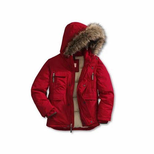 ef57916e7d13 Red Hooded Kids Jacket