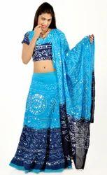 Blue Bandhej Lehenga Choli