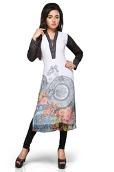 Party Wear Embroidered Designer Long  Kurti