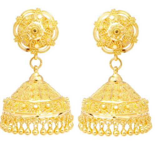 91d8bd37a Jhumka Earrings Gold Grt - Best All Earring Photos Kamilmaciol.Com