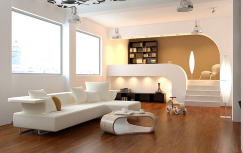 Modular Drawing Room Interior Designing