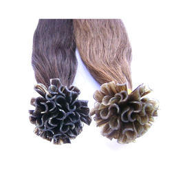 Women Human Hair U Tip Hair Extension, For Personal