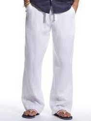 Men S White Linen Pant At Rs 490 00 Piece Motera Ahmedabad Id