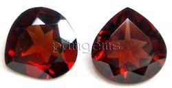 Garnet Faceted Heart Gemstone