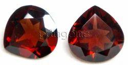 Garnet Faceted Heart Gemstone