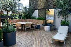 Terrace wooden flooring