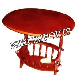 Wooden Round Telephone Stand