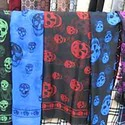Multi Colored Skull Print Scarf