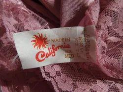 Undergarment Label